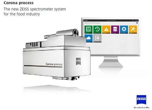 SCA / CARL ZEISS ONLINE CORONA PROCESS NIR SENSOR  FOR FOOD INDUSTRY